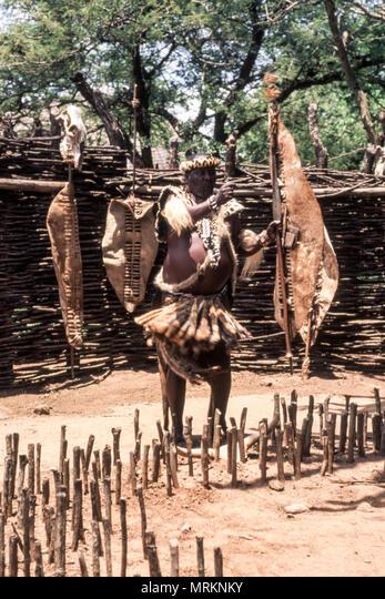 Zulu people at the Shakaland Zulu Village,  Nkwalini Valley,  Kwazulu Natal,  South Africa.