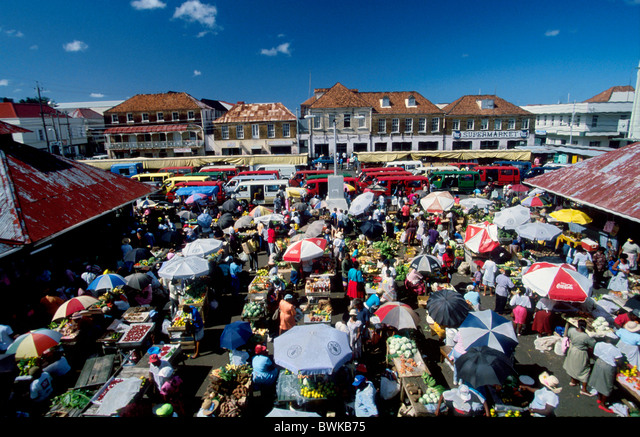 Caribbean Grenada West-Indian islands isles Windward Island Saint George's market overview states people